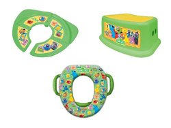 Sesame Street Soft Potty, Travel and Step Stool Combo Set, Framed Friends