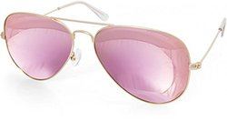 Aquaswiss James Women's Aviator Sunglasses - Blush - Size: One Size