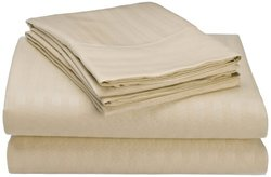Hotel New York Embossed Dobby Microfiber Sheet Set - Ivory - Size: Queen