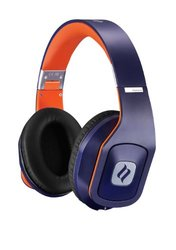 Noontec Circumaural Stereo Over Ear Headphones with Mic - Blue/Orange