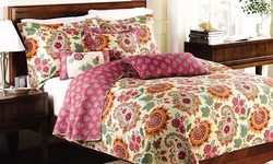 Virah Bella Comfy Quilt & Shams 3-Piece Set - Jada - Size: Queen