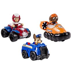 Paw Patrol Chase/Zuma/Ryder Rescue Racers Vehicle 3 Pack Set - Multi-Color 386624