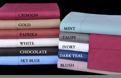 Camden Collection 350-Thread-Count 100-Percent Egyptian Cotton Sateen Queen Sheet Set, Ivory